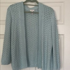 Ladies, Summer Open Weave Sweater with 3/4 sleeves